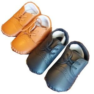 Baby boy's Moccasin shoes 6-12M 4c Brown or Blue
